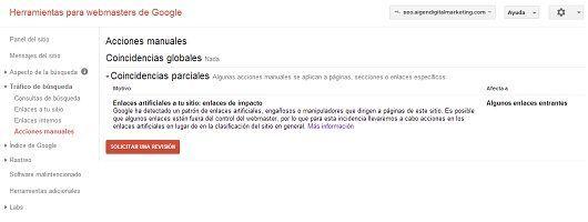 Penalizaciones manuales google