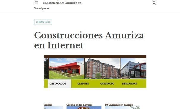 Wordpress de Construcciones Amuriza en la red